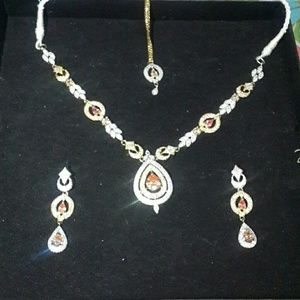 Gold plated engagement/prom/partywear jewlery set
